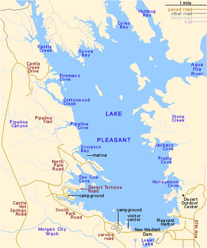 map of az lakes Arizona Local River Lake Maps East Valley Kayak map of az lakes