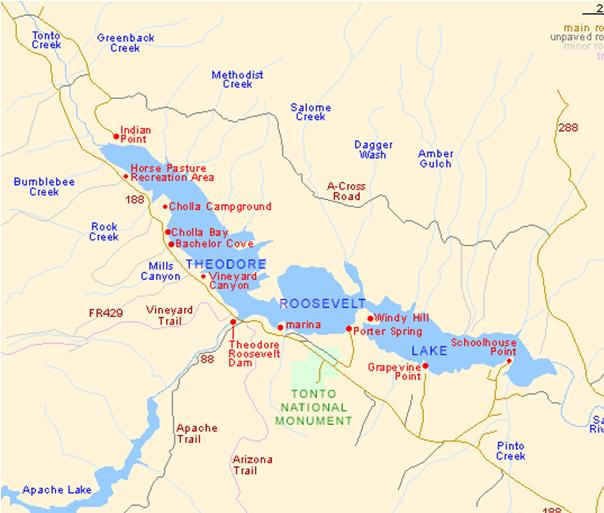 Map Of Arizona Hot Springs.Arizona Local River Lake Maps East Valley Kayak