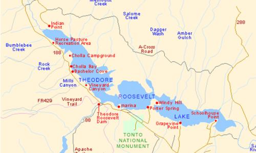 Roosevelt-Lake-Map